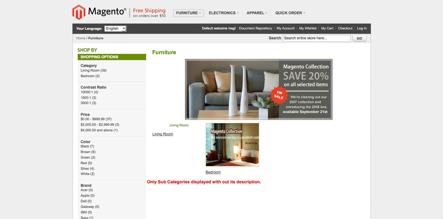 Furniture Demo