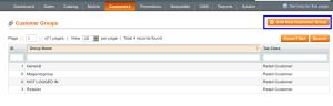 magento admin add customer group
