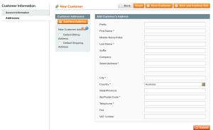 magento admin customer address