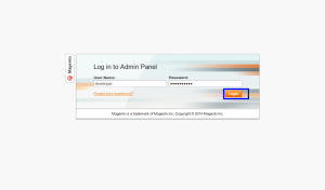 magento admin user login