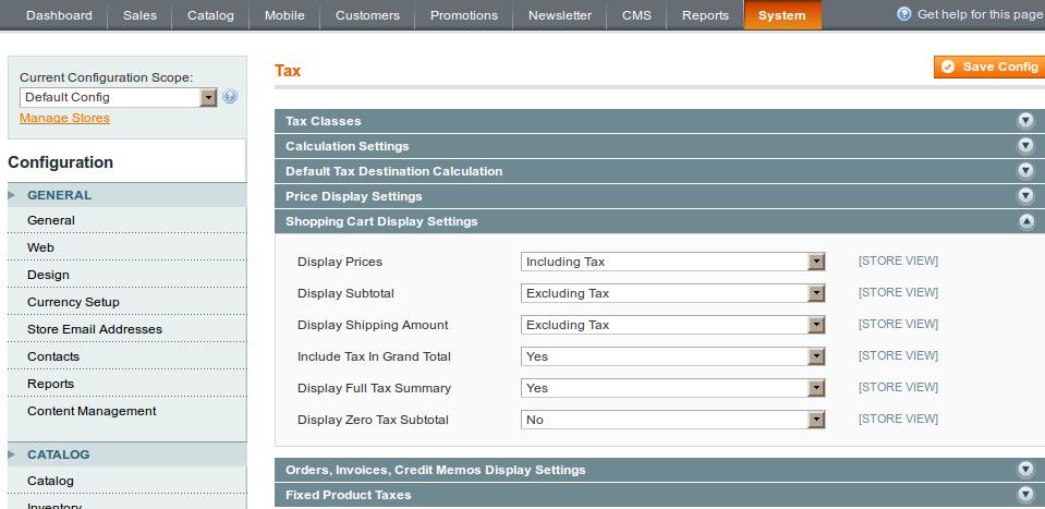 shop cart tax 5