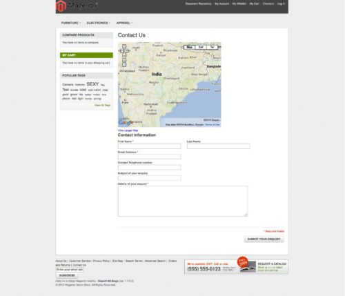 magento1 advanced contact us google map display on frontend