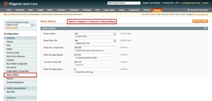 enable imge gallery module from admin in magento1 album gallery magento1