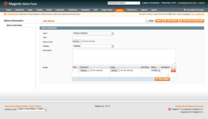 add album from admin in magento1 album gallery magento1