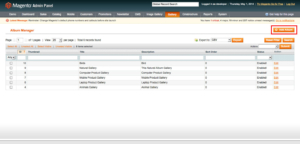 check album manager from admin in magento1 album gallery magento1