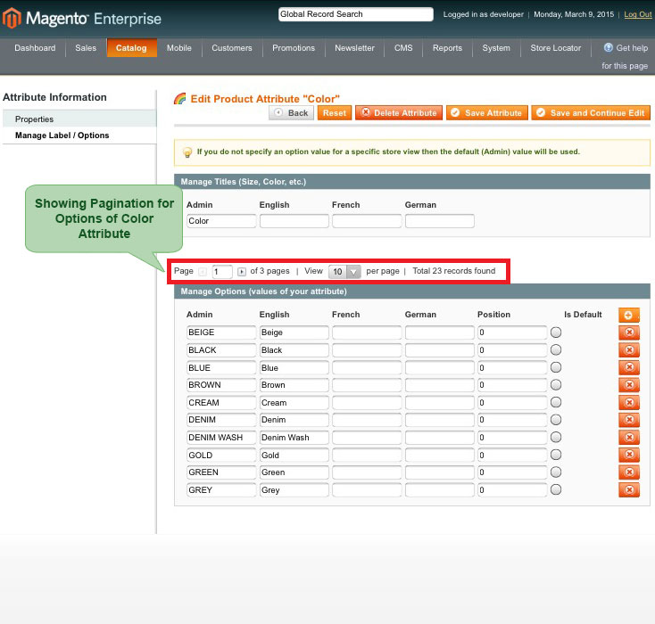 set pagination for options of attribute for attribute pagination magento1