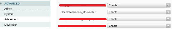 enable backorder module from admin
