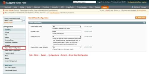 brand slider magento1 admin configuration