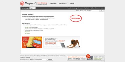 brand slider magento1 404 error page