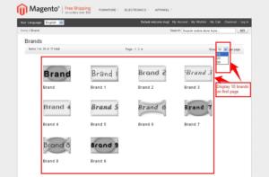 brand slider magento1 display brand option on page