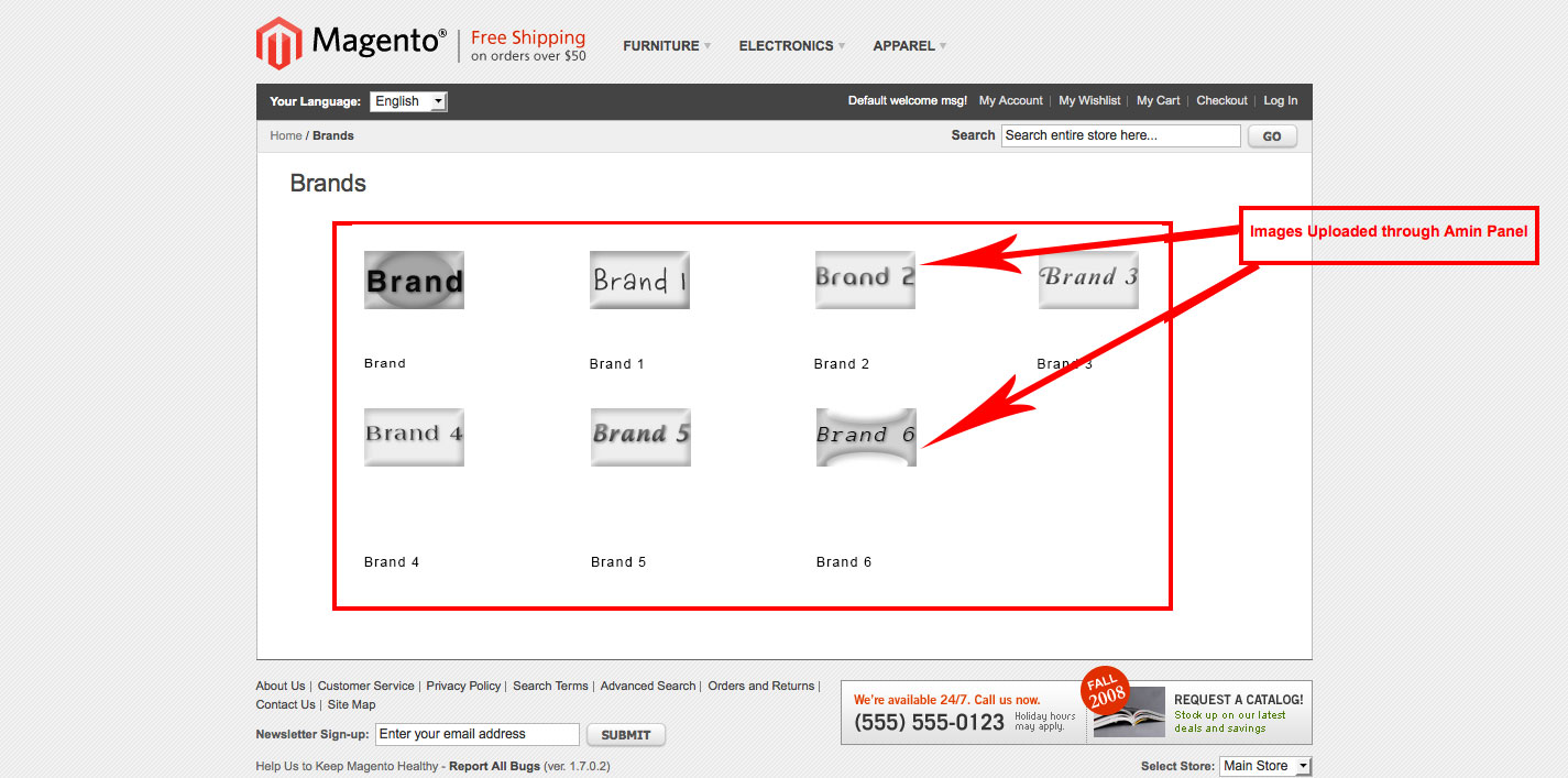 magento1 brand slider images uploaded through admin panel