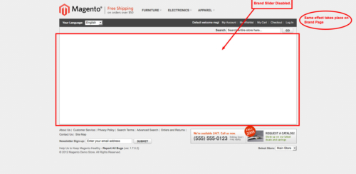 brand slider magento1 brand slider disabled on frontend