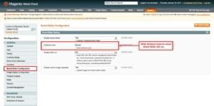 brand slider magento1 set attribute code for brand slider will run
