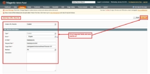 brand slider magento1 fill all required filed for rewrite url from admin