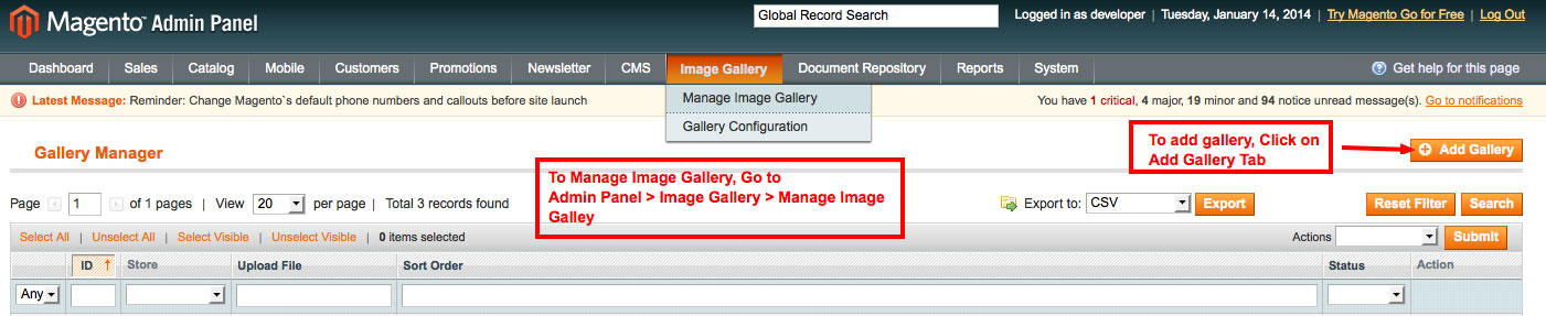 manage image gallery from admin panel image gallery magento1