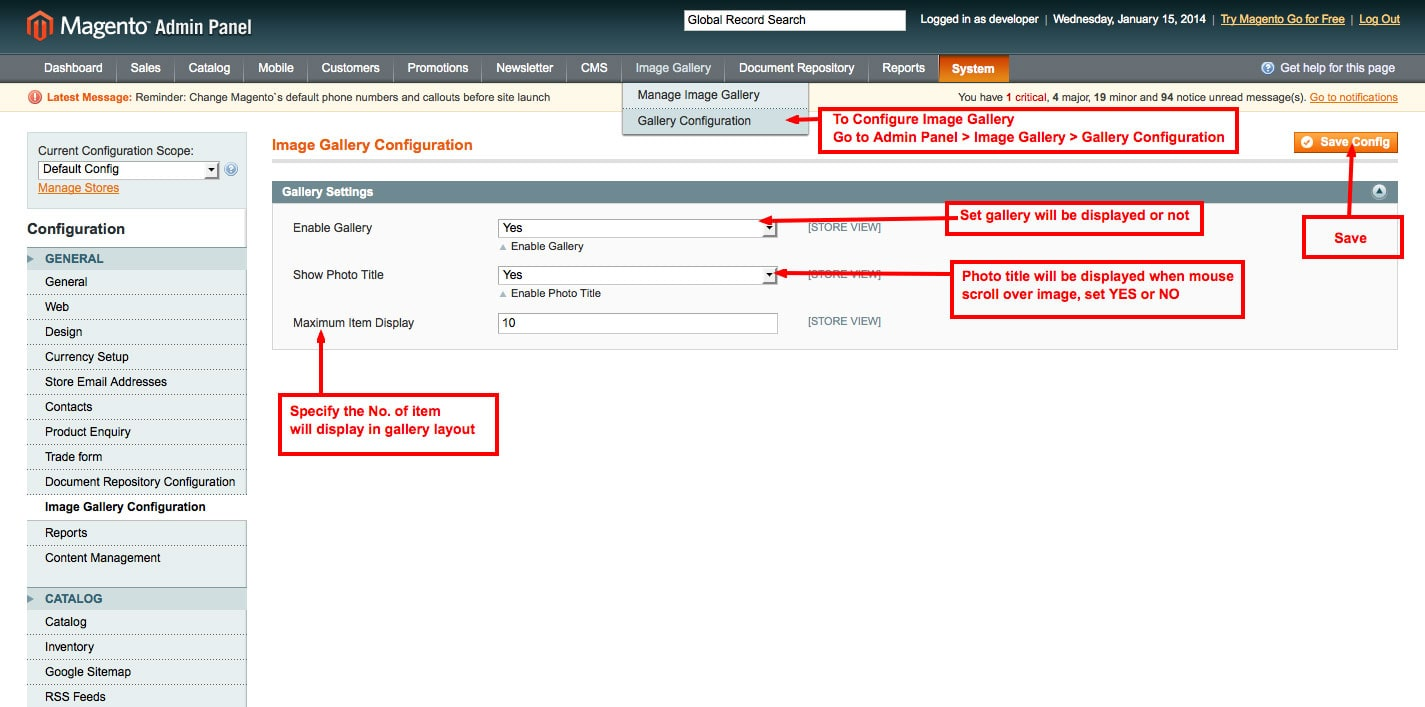 set image gallery configuration from admin panel image gallery magento1