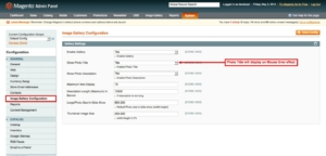 magento1 image gallery set image title from admin panel
