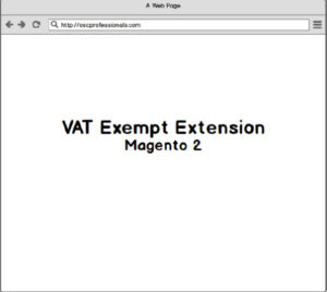 magento 2 vat exempt extension