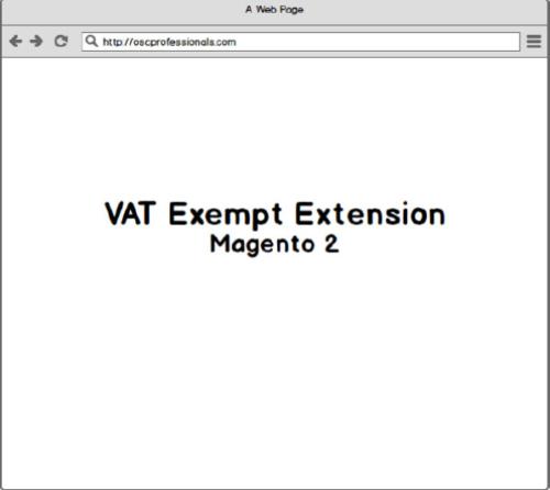 magento 2 vat exempt extension