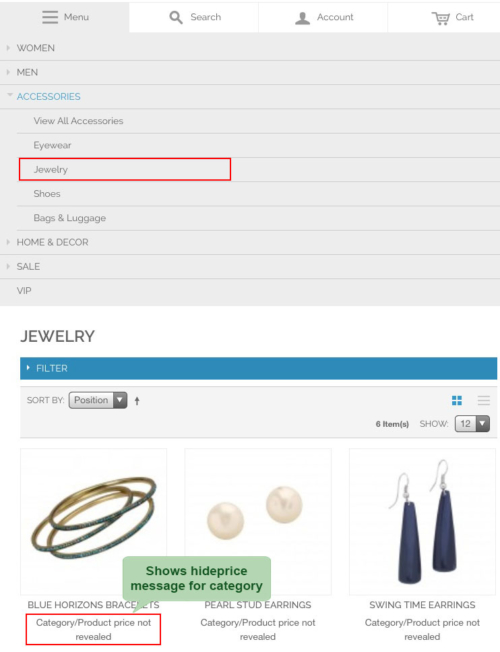 magento1 hide price on frontend show hide price msg for category