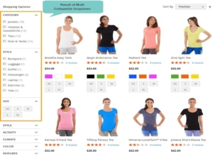 magento 2 layered navigation for result of multi collapsible dropdown
