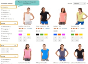 display single collapsible dropdown in magento 2 layered navigation