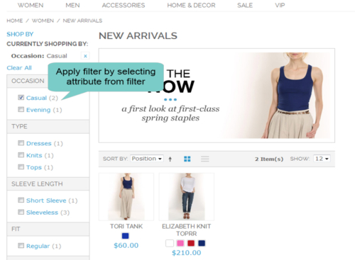 magento 1 layered navigation filter by selecting attribute