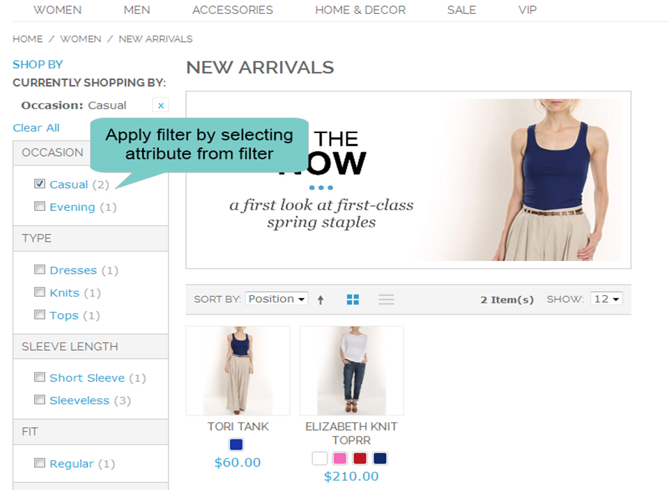 layered navigation magento 1 filter by selecting attribute