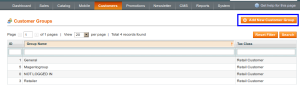 magento admin add customer group
