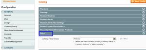 magento admin catalog price scope