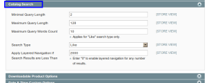 magento admin catalog search