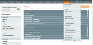 magento configuration catalog