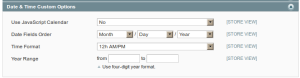 magento admin catalog date and time