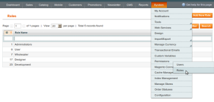 magento admin permission configuration