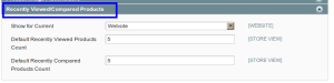 magento admin catalog recently viewed product