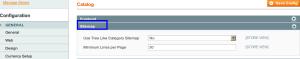 magento admin catalog sitemap