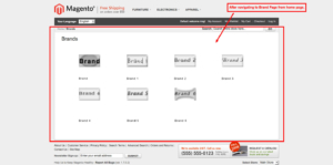 brand slider magento1 display navigation of brand page