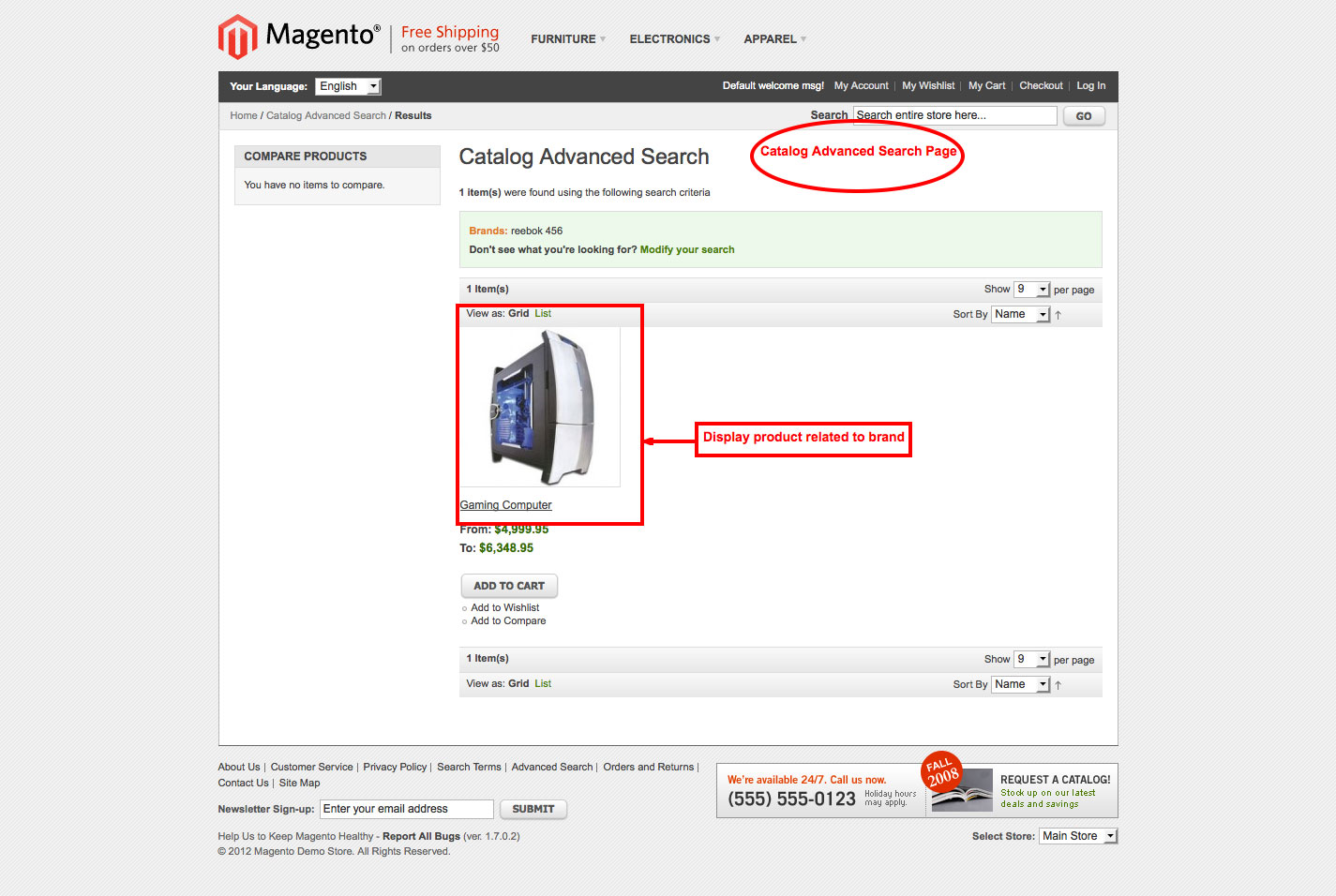 brand slider magento1 catalod advanced search page