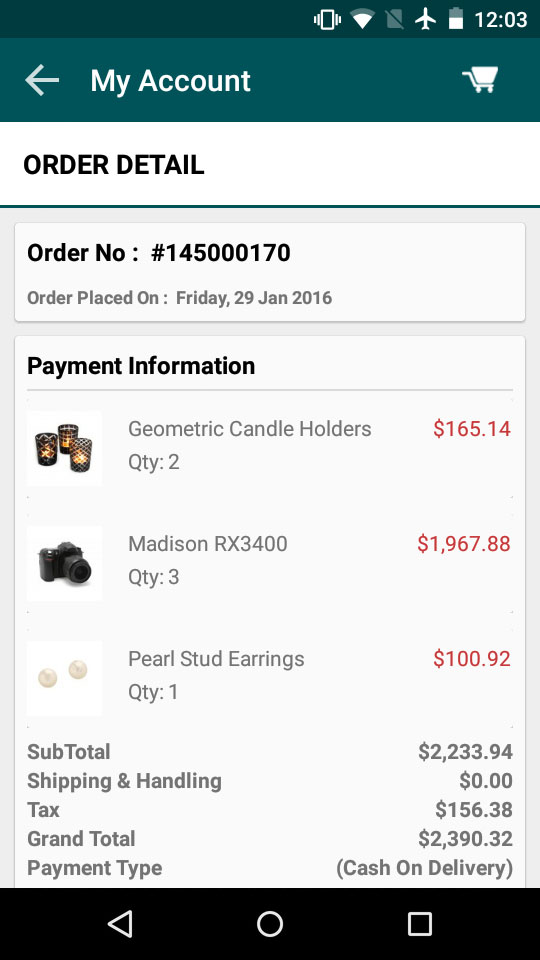 magento1 osc mcart order detail page