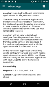 magento1 osc mcart about app information
