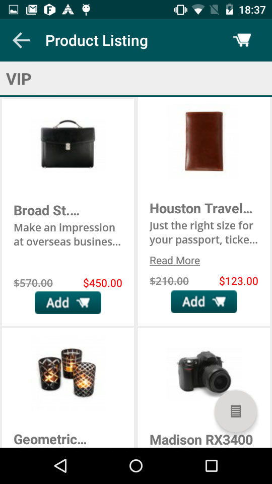 magento1 osc mcart product listing page in two column