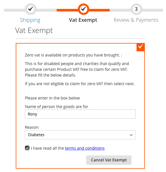 VAT EXEMPTION (Relief) FOR MAGENTO 2